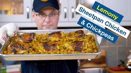 Lemony SheetPan Chicken And Chickpeas