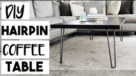 DIY Hairpin Leg Coffee Table for 100