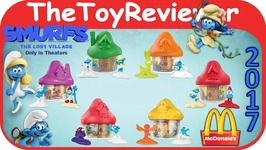 2017 Smurfs Lost Village Mcdonalds Happy Meal COMPLETE SET 6 Unboxing Toy Review