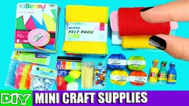 DIY Miniature Doll Arts And Crafts Supplies - Really Works - 10 Easy DIY Doll Crafts