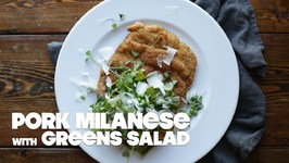 Pork Milanese With Spring Kale Salad