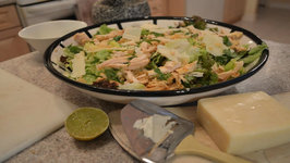 Green Salad With Curried Chicken, Pear And Sheep Milk Cheddar And Vinaigrette