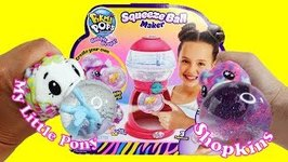 MLP and Shopkins Charms in Pikmi Pops Squeeze Ball Maker