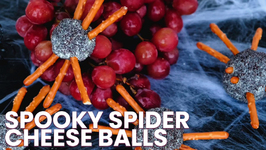 Spooky Spider Cheese Balls