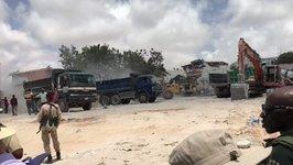 Rebuilding Work Begins at Site of Mogadishu Bomb Blast