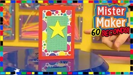 Spongy Card - How To Make In 60 Seconds - Mister Maker