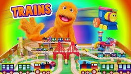 Fuzzy Choo Choo Train Conductor! Train Toy Videos for Children & Family TRAIN FOR KIDS PLAYSET