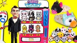 Cutetitos Babitos VENDING MACHINE GAME w/ Toy Story 4 Forky, Benson  Gabby