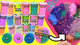 Slime Mixing COMPOUND KINGS Entire Collection in One Bowl! UNICORN, FLUFFY, STRETCHY