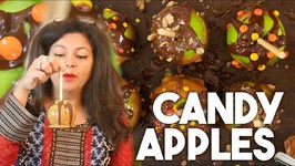 How To Make Caramel Candy Apples - Homemade Fall Thanksgiving Treat - Kravings