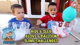 FIND YOUR SLIME INGREDIENTS CHALLENGE - HIDE & SEEK BALLOONS - DEION'S PLAYTIME