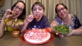 Russian Tomato Salad, Asparagus And Turkey Kotleti - Patties /Gay Family Mukbang- Eating Show
