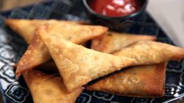 Chinese Samosa Recipe - How To Make Crispy Vegetable Samosa - Snack Recipe - Varun