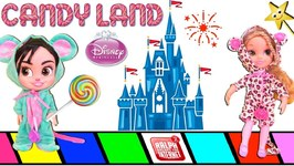 Vanellope's DISNEY COMFY PRINCESS SLEEPOVER: Who Wins CANDYLAND? w/ Surprise Toys