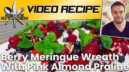 Berry Meringue Wreath With Pink Almond Praline