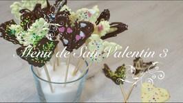 Menu San Valentín 3  Piruletas de Chocolate  Postres para San Valentin Faciles