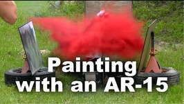 Man Creates Art Using AR-15 and Exploding Paint Cans