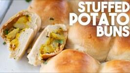 Stuffed Potato Buns - Aloo Stuffed Vegetarian