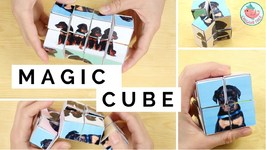 DIY Transforming Infinity Cube Paper Toy Tutorial - Free Puppies Printables - Paper Crafts Gift Idea