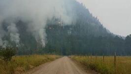 Wildfire Rages Close to British Columbia Mountains