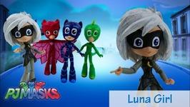 DIY Custom PJ Masks Luna Girl My Little Pony Equestria Girls Minis Tutorial Disney Jr