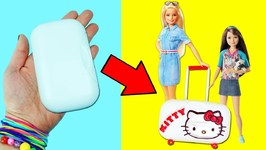 10 Amazing Barbie Doll Hacks - 8 - Easy Doll Crafts In 5 Minutes or Less
