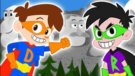 Drew SAVES Mount Rushmore - A Drew Pendous Superhero Story - Cartoons for Kids - Cool School Stories