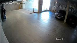 Man Spray-paints Garage CCTV Before Breaking Into Car