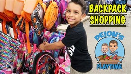 BACKPACK SHOPPING  TARGET, WALMART, KHOL'S  DEION'S PLAYTIME
