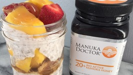 Manuka Honey Strawberry Mango Chia PuddingKourtney Kardashian's Favorite