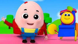 Humpty Dumpty Sat On The Wall - Bob The Train - 3D Rhymes In English - Songs And Poem For Kids