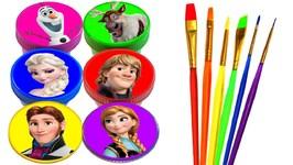 Disney Princess Drawing And Painting Rainbow Colors For Kids Frozen Elsa Anna Ariel Rapunzel