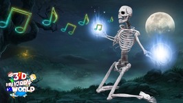 Crazy Skeleton World Finger Family Rhyme For Kids - Scary Skeleton Songs For Halloween