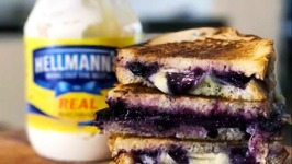 Grilled Cheese With Blueberries