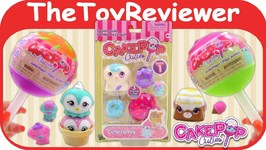 CakePop Cuties Jumbo Pops Doggy Family Squishy Squishies Blind Unboxing Toy Review