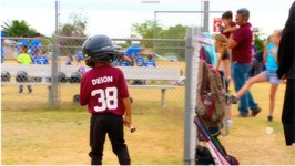 DEION'S BIG HITS IN TEE BALL