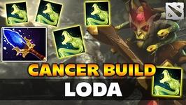 Loda CANCER BUILD Medusa Dota 2
