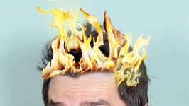 Hair Catches On Fire