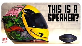 A WIRELESS motorcycle HELMET SPEAKER