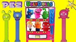 UGLY DOLLS MOVIE PEZ Candy Machine Game w/ Surprise Toys & Ugly Dolls PEZ Dispensers