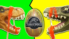 Jurassic World Fallen Kingdom Dinosaur Toys - Indoraptor vs T-REX Surprise Dinosaur Eggs