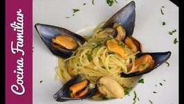 Espaguetis con mejillones a la marinera - Recetas caseras fáciles