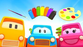 Clever Cars Cartoon- Learn Colors with Cars - Baby Learning Cartoons