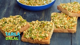 Open Paneer Masala Toast (Healthy Breakfast)