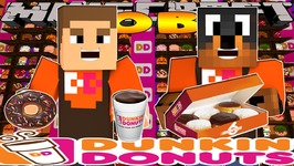 Minecraft - Little Donny Adventures - DUNKIN DONUTS JOB w/ DONUT THE DOG