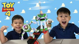 Toy Story 4 Toys - Flying Buzz Lightyear And Radical Skate Buzz