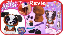 PlushCraft Puppy 3D Kit Artsi Unboxing Toy Review