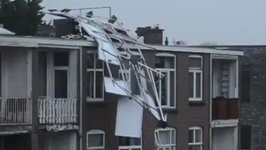 Solar Panels Crash Off Hague Rooftop During Deadly Storm