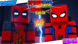 Minecraft: DEADPOOL HOUSE VS SPIDER-MAN HOUSE!!