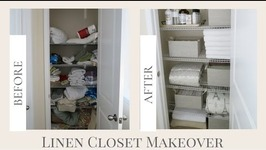 Mother's Day Gift Idea  Mother's Day Linen Closet Makeover  Home Organization
